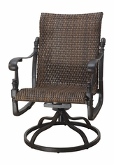 Florence By Gensun Luxury Wicker Patio Furniture Standard Back Swivel Rocker