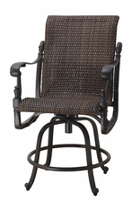 Florence By Gensun Luxury Wicker Patio Furniture Swivel Balcony Stool