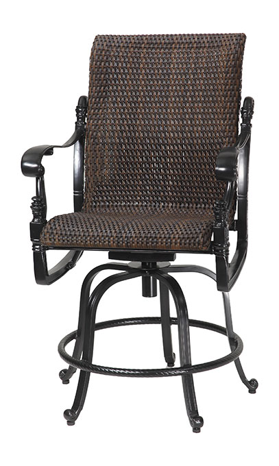 florence by gensun luxury wicker patio furniture swivel rocker