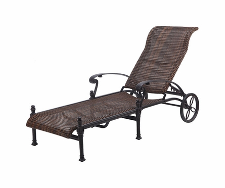 Florence Wicker Chaise Lounge By Gensun