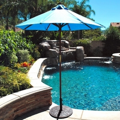 Galtech 6' Cafe And Bistro Wood Patio Umbrella With Suncrylic Canopy