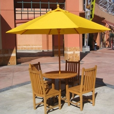 Galtech 9' Commerical Wood Pole Patio Umbrella With Suncrylic Canopy