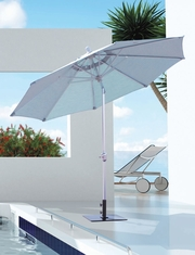 Galtech Market Aluminum 9' Deluxe Auto Tilt Patio Umbrella With Sunbrella Fabric Canopy