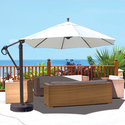 Galtech Aluminum 11 Cantilever Offset Patio Umbrella With