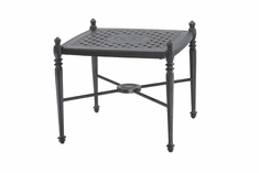 "Grand Terrace By Gensun Luxury Cast Aluminum Patio Furniture 21"" Square End Table"