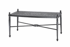 "Grand Terrace By Gensun Luxury Cast Aluminum Patio Furniture 21"" x 42"" Rectangle Coffee Table"