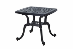"Grand Terrace By Gensun Luxury Cast Aluminum Patio Furniture 24"" Square End Table"