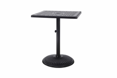 "Grand Terrace By Gensun Luxury Cast Aluminum Patio Furniture 30"" Square Pedestal Balcony Table"