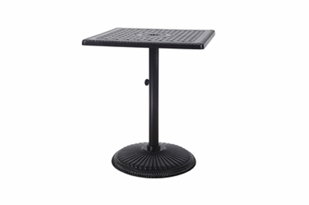 "Grand Terrace By Gensun Luxury Cast Aluminum Patio Furniture 30"" Square Pedestal Bar Table"