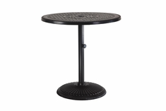 "Grand Terrace By Gensun Luxury Cast Aluminum Patio Furniture 36"" Round Pedestal Bar Table"