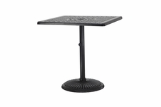 "Grand Terrace By Gensun Luxury Cast Aluminum Patio Furniture 36"" Square Pedestal Bar Table"