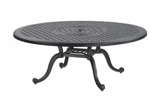 Grand Terrace By Gensun Luxury Cast Aluminum Patio Furniture 42 Round Chat Table