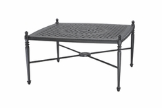 "Grand Terrace By Gensun Luxury Cast Aluminum Patio Furniture 42"" Square Coffee Table"