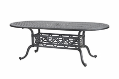 "Grand Terrace By Gensun Luxury Cast Aluminum Patio Furniture 42"" x 86"" Oval Dining Table"