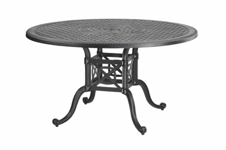 "Grand Terrace By Gensun Luxury Cast Aluminum Patio Furniture 48"" Round Dining Table"