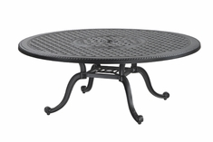 "Grand Terrace By Gensun Luxury Cast Aluminum Patio Furniture 54"" Round Chat Table"