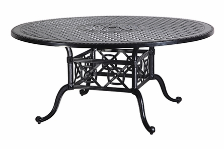 """Grand Terrace By Gensun Luxury Cast Aluminum Patio Furniture 66"""" Round Dining Table"""