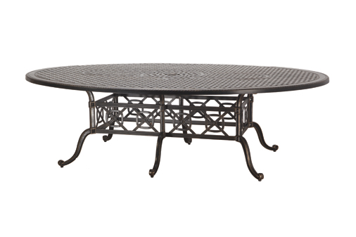 Grand Terrace By Gensun Luxury Cast Aluminum Patio Furniture 72 X 102 Geo Dining Table