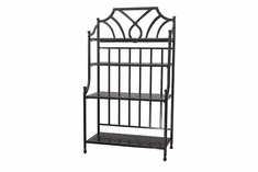 Grand Terrace By Gensun Luxury Cast Aluminum Patio Furniture Baker's Rack