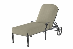 View all cast aluminum chaise lounges for Bella flora double chaise lounge