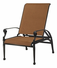 Grand Terrace by Gensun Luxury Cast Aluminum Patio Furniture Padded Sling Reclining Chair
