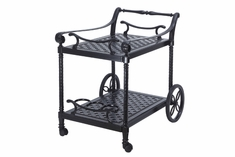 Grand Terrace By Gensun Luxury Cast Aluminum Patio Furniture Serving Cart