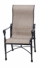 Grand Terrace by Gensun Luxury Cast Aluminum Patio Furniture Sling High Back Dining Chair