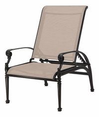 Grand Terrace by Gensun Luxury Cast Aluminum Patio Furniture Sling Reclining Chair