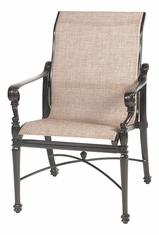 Grand Terrace by Gensun Luxury Cast Aluminum Patio Furniture Sling Standard Back Dining Chair