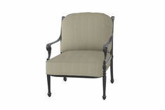 Grand Terrace By Gensun Luxury Cast Aluminum Patio Furniture Stationary Club Chair