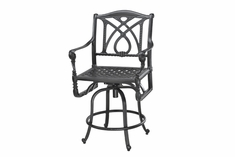 Grand Terrace By Gensun Luxury Cast Aluminum Patio Furniture Swivel Balcony Chair
