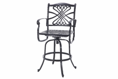 Grand Terrace By Gensun Luxury Cast Aluminum Patio Furniture Swivel Bar Chair