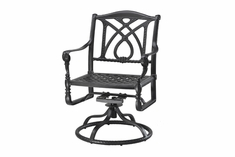 Grand Terrace By Gensun Luxury Cast Aluminum Patio Furniture Swivel Dining Chair