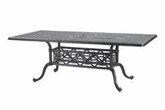 "Grand Terrace By Gensun Luxury Cast Aluminum Patio Furntiure 42"" x 72"" Rectangle Dining Table"