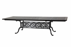 Grand Terrace By Gensun Luxury Cast Aluminum Rectangular Extension Dining Table