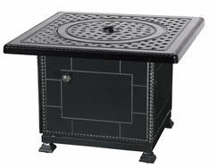 "Gensun Grand Terrace Cast Aluminum 36"" Square Outdoor Gas Fire Pit"