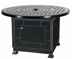 "Gensun Grand Terrace Cast Aluminum 42"" Round Outdoor Gas Fire Pit"