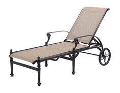 Grand Terrace  By Gensun Sling Patio Furniture Chaise Lounge