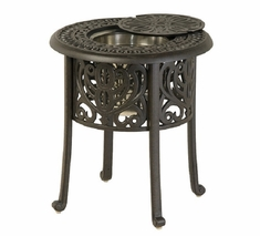 "Grand Tuscany By Hanamint Luxury Cast Aluminum 20"" Patio Furniture Ice Bucket Table"