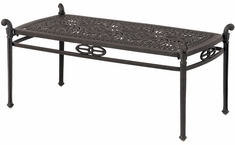 "Grand Tuscany By Hanamint Luxury Cast Aluminum 21"" x 42"" Patio Furniture Coffee Table"
