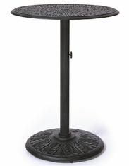 "Grand Tuscany By Hanamint Luxury Cast Aluminum 30"" Pedestal Bar Height Table"