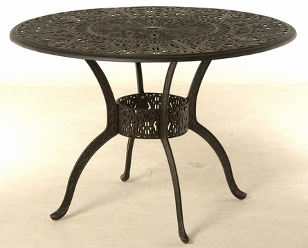 """Grand Tuscany By Hanamint Luxury Cast Aluminum 54"""" Round Counter Height Table W/Inlaid Lazy Susan"""