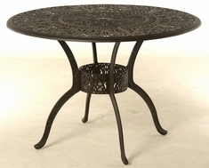 "Grand Tuscany By Hanamint Luxury Cast Aluminum 54"" Round Counter Height Table W/Inlaid Lazy Susan"