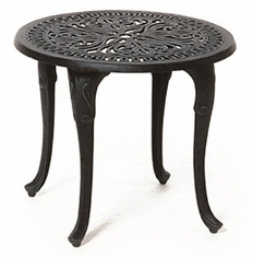 "Grand Tuscany By Hanamint Luxury Cast Aluminum Patio Furniture 21"" Round Tea Table"