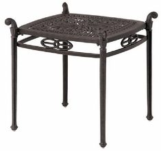 "Grand Tuscany By Hanamint Luxury Cast Aluminum Patio Furniture 21"" Square End Table"