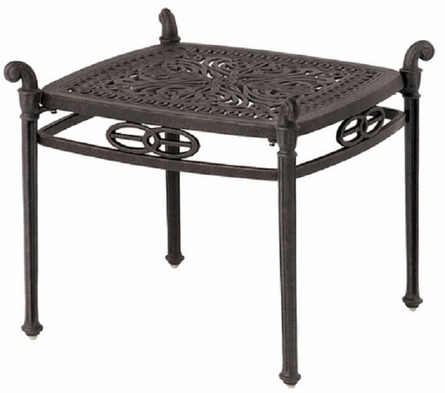 "Grand Tuscany By Hanamint Luxury Cast Aluminum Patio Furniture 21"" Square Tea Table"