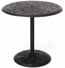 "Grand Tuscany By Hanamint Luxury Cast Aluminum Patio Furniture 30"" Round Pedestal Table"