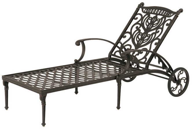 Shop grand tuscany by hanamint luxury cast aluminum patio for Aluminum outdoor chaise lounge