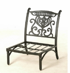 Grand Tuscany By Hanamint Luxury Cast Aluminum Patio Furniture Middle Club Chair
