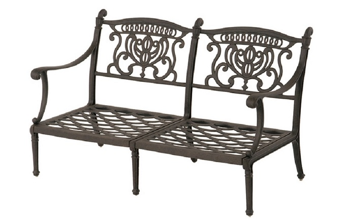 Grand Tuscany Collection By Hanamint Luxury Cast Aluminum Patio Furniture  Loveseat